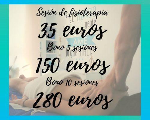 tarifas fisioterapia
